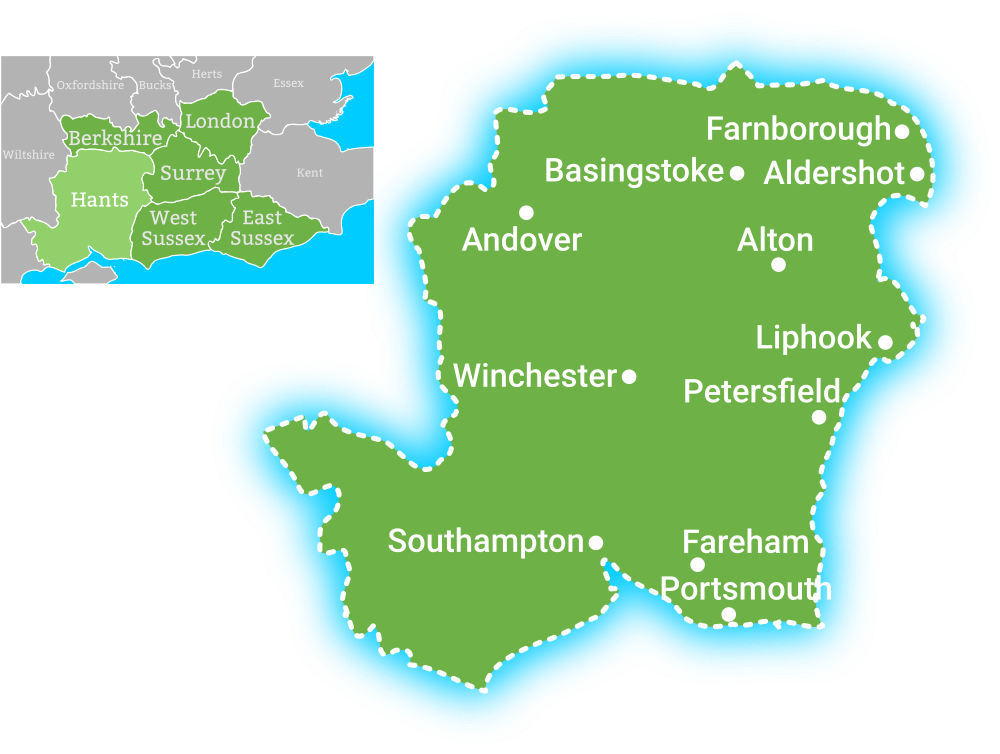 Earth Electric Hampshire coverage map