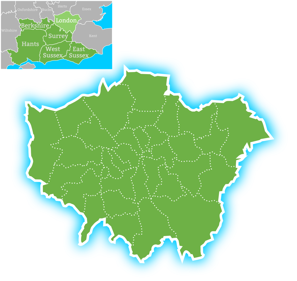 Earth Electrical coverage area in London