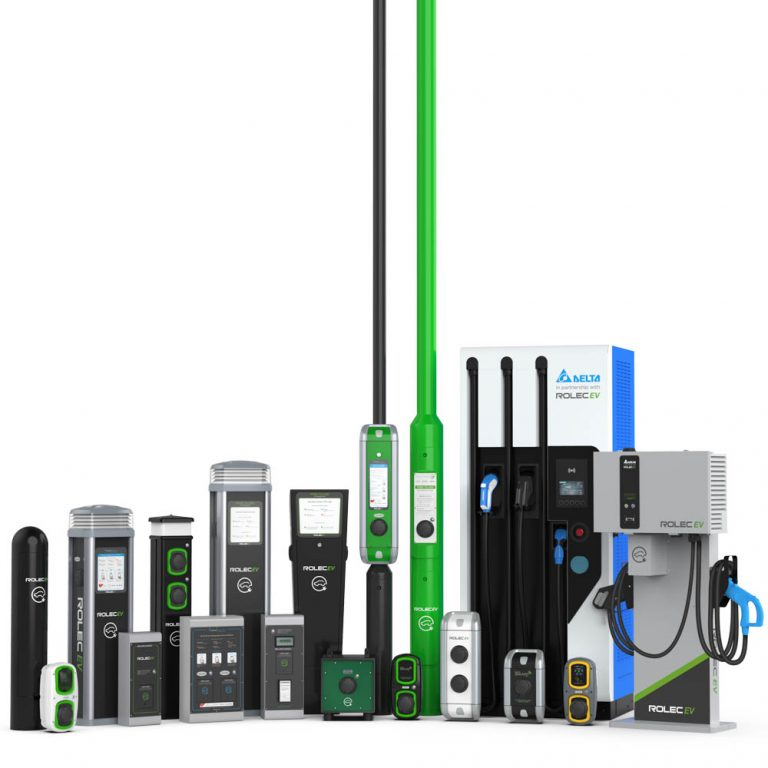 Rolec EV products for EV workplace charger installation