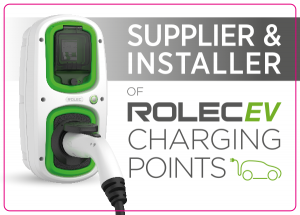 Supplier & Installer of Rolec EV Charging Points