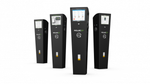 Rolec AutoCharge:EV Pedestal for workplace charger installation