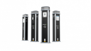 Rolec Quantum:EV Pedestal for workplace charger installation